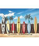Surfboard Scene Kid's Wall Murals