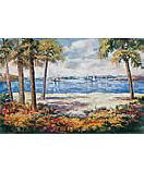 Ocean View 259-74050 discount palm tree wall mural