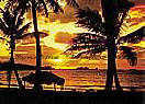 Caribbean Sunset 3914 Large Ocean wallpaper murals
