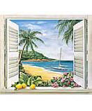 Tropical Window wallpaper wall mural
