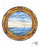 Porthole OA4576M wallpaper wall mural