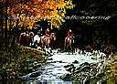 Traditional Hunt Scene york wallpaper wall mural