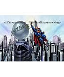 Superman Cityscape Kid's Wall Murals