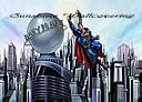 Superman Cityscape york wallpaper wall mural