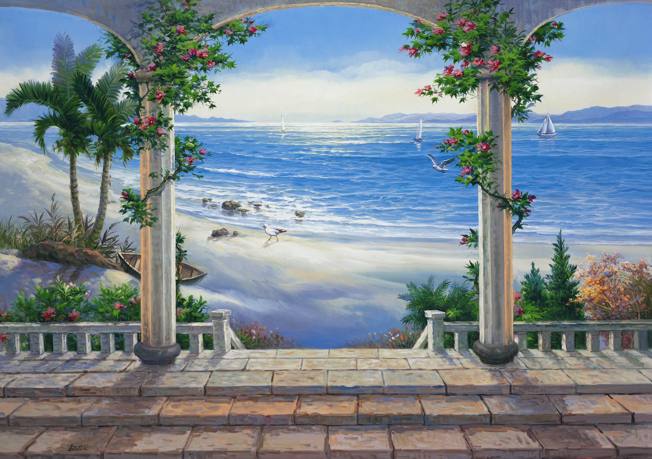 3d wall murals for walls download wallpaper free for Mural 3d wallpaper
