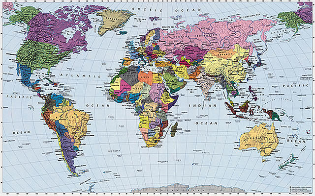 world map wallpaper mural. World Map wall maps murals